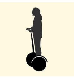 A silhouette of a woman resting and fast rides on vector