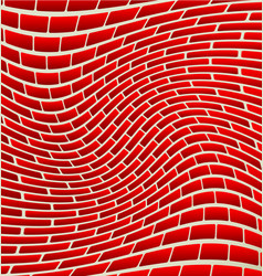 Abstract brick wall texture with rotating vector