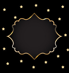 Abstract card with golden frame vector