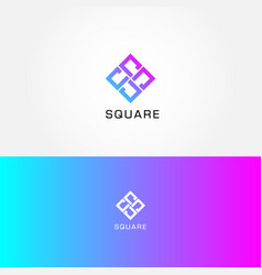abstract simple square logo sign symbol icon vector image