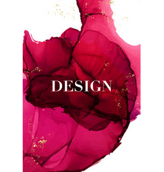 alcohol ink abstract decoration design drawing vector image