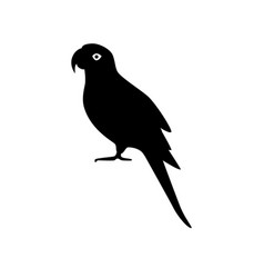 Alexandrine parrot silhouette icon in flat style vector