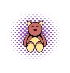 Baby bear comics icon vector