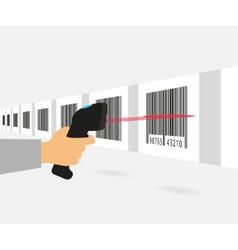 Barcode scanning vector image