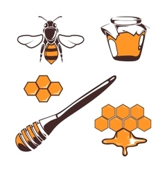 Beekeeper bee honey design elements vector