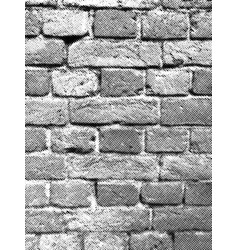 brick wall halftone texture overlay vector image