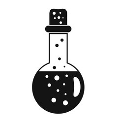 chemistry potion icon simple style vector image