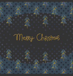 christmas greeting card with fir trees vector image
