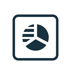 Circle diagram icon Rounded squares button vector