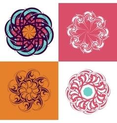 Circle ornament set vector image