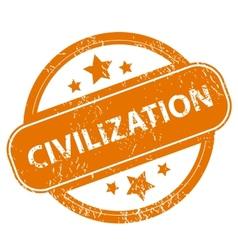 Civilization grunge icon vector image