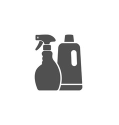 Cleaning spray and shampoo simple icon cleanser vector