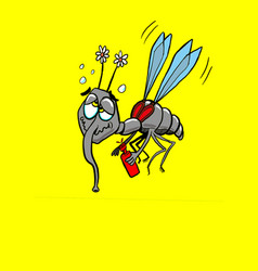 colored alcoholic mosquito vector image