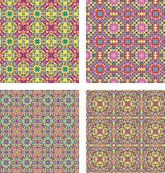Colored seamless mosaic background set vector