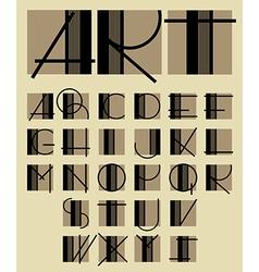Contemporary letters alphabet vector