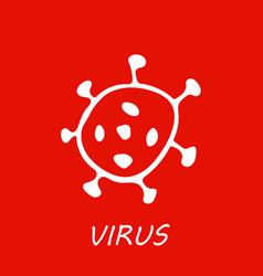 Corona virus or bacteria hand drawn icon vector