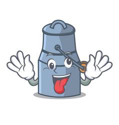 Crazy milk can mascot cartoon vector