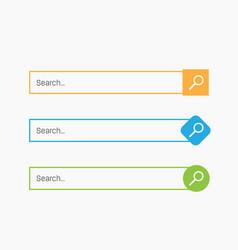 Creative of search bar boxes vector