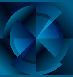 dark blue technology gear diagram abstract vector image