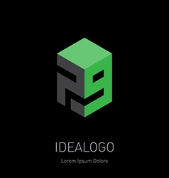 Design element logotype or icon with figures 7 and vector
