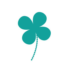 dotted shape natural clover plant with leaves vector image
