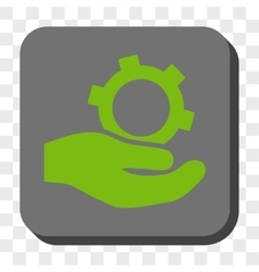 Engineering Service Rounded Square Button vector image