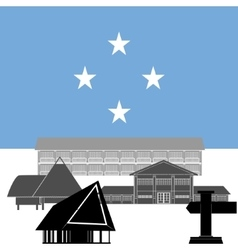 Federated states micronesia vector