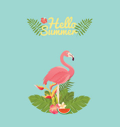 Flamingo bird design on background vector