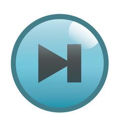 Flat black step forward button icon vector