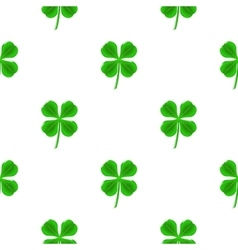 Green Clover Seamless Pattern vector image