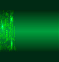 green hi tech abstract background vector image