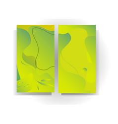 Green natural background design vector