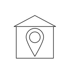 home location icon vector image
