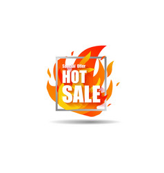 Hot sale fire special price offer deal vector