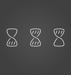 Hourglass wait set icons draw effect vector image