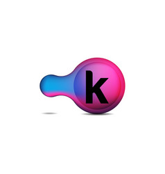 initial k circle logo design inspiration vector image