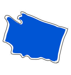 Isolated map of the state of washington vector