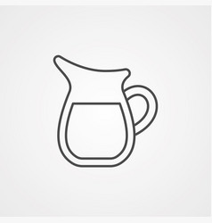 jug icon sign symbol vector image