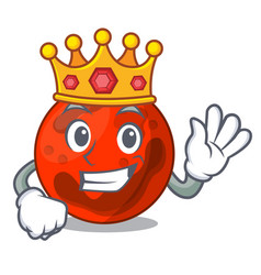 King mars planet mascot cartoon vector