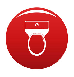 Lavatory icon red vector