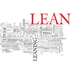 lean word cloud concept vector image