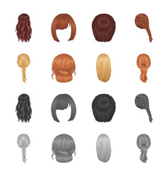 Light braid fish tail and other types of vector