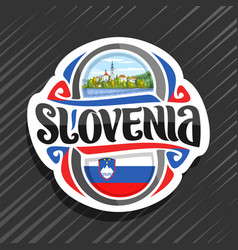 logo for slovenia vector image