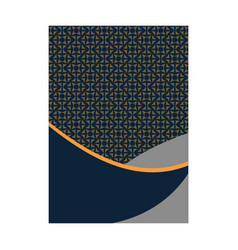 luxury cover page with pattern design for flyer vector image