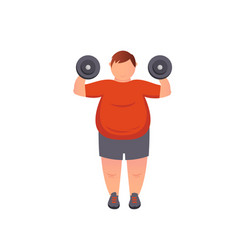 man trying to lose weight diet vector image