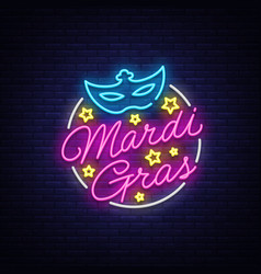 mardi gras design template for greeting cards vector image
