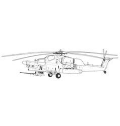 Mi 28 havoc military attack combat helicopter vector