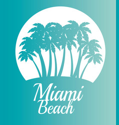 Miami beach california scene vector