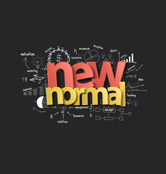 new normal typography design with creative vector image