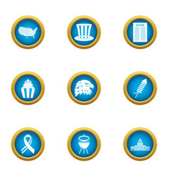 Northerner icons set flat style vector